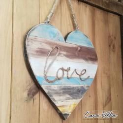 Placa Coração LOVE