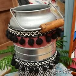 Leiteira Decorativa Losango